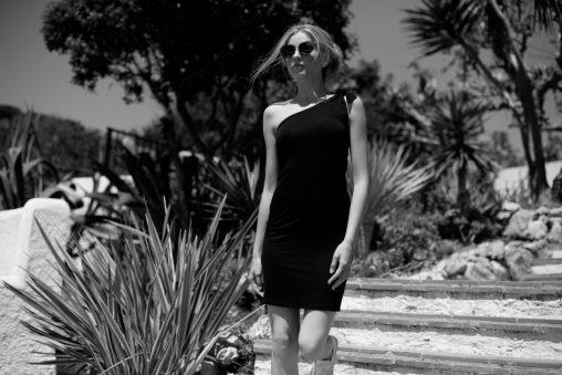Vestido algodón negro de un tirante. 002
