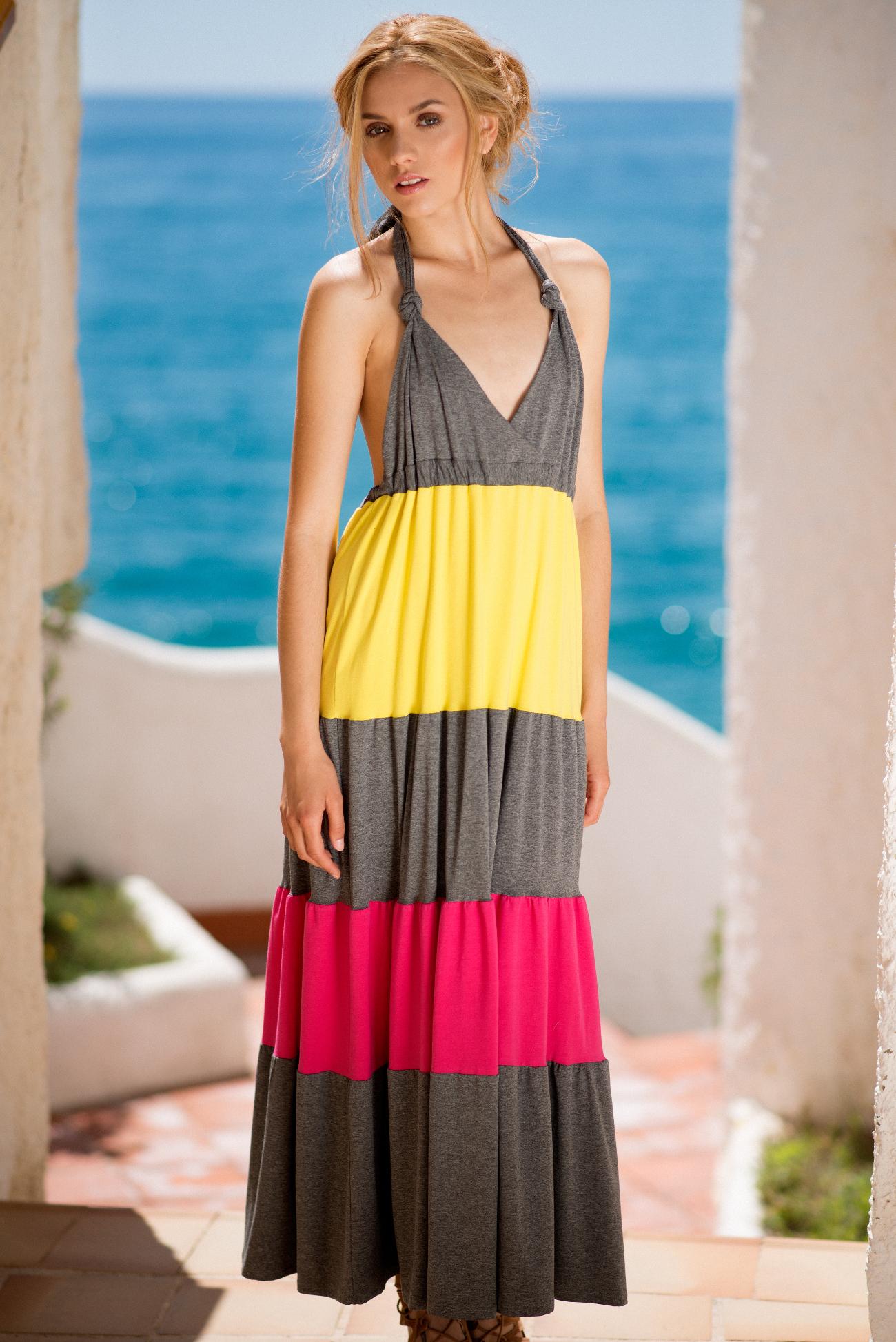vestido largo algodón gris.001