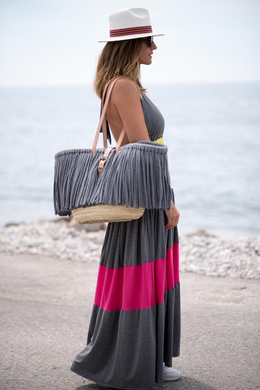 vestido largo con escote de espalda de algodón de Isabelas Bcn