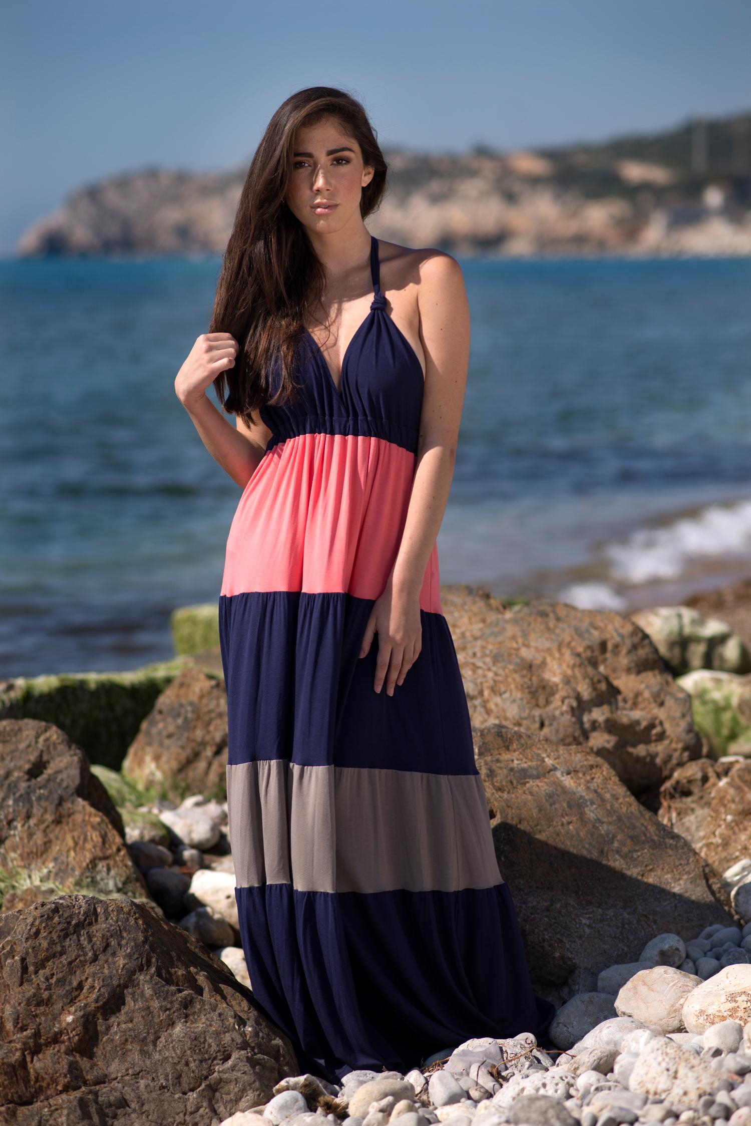 Maxi vestido escote halter, Isabelas Bcn