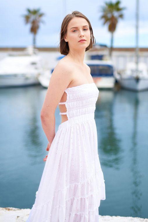 Vestidos blancos escotados de espalda, Isabelas Bcn